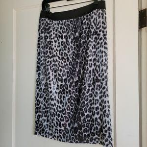 Worthington sequins skirt black & white NEW medium